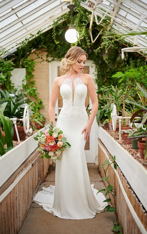 New-York-Bride-Syracuse-Stella-York-halter-wedding-dress-style-6999